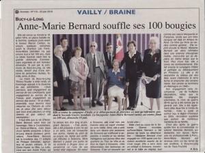 A 23 juin Mme Bernard