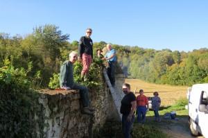 Atelier du 14 octobre sur la tourelle de cailliets